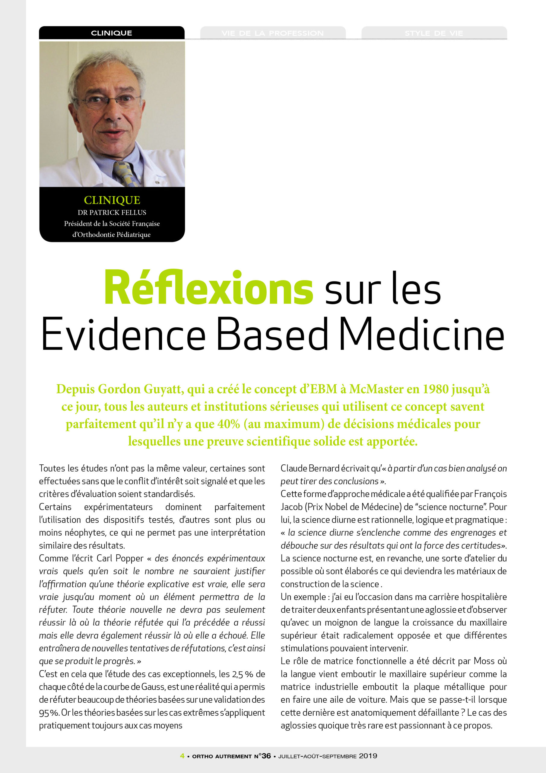dr fellus article scientifique orthoautrement